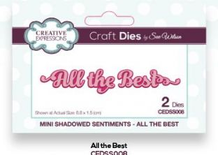 Mini Shadowed Sentiments Collection - All the Best